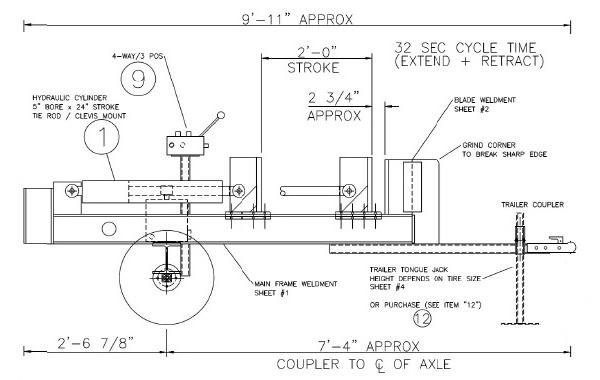 hydraulic schematic diagram wood splitter
